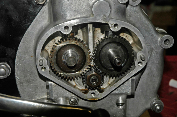 Matchless g80cs inlet and exhaust camshafts are driven from a crankshaft pinion there is one mark on the inlet pinion but two on the exhaust one is for road use and one sciox Gallery